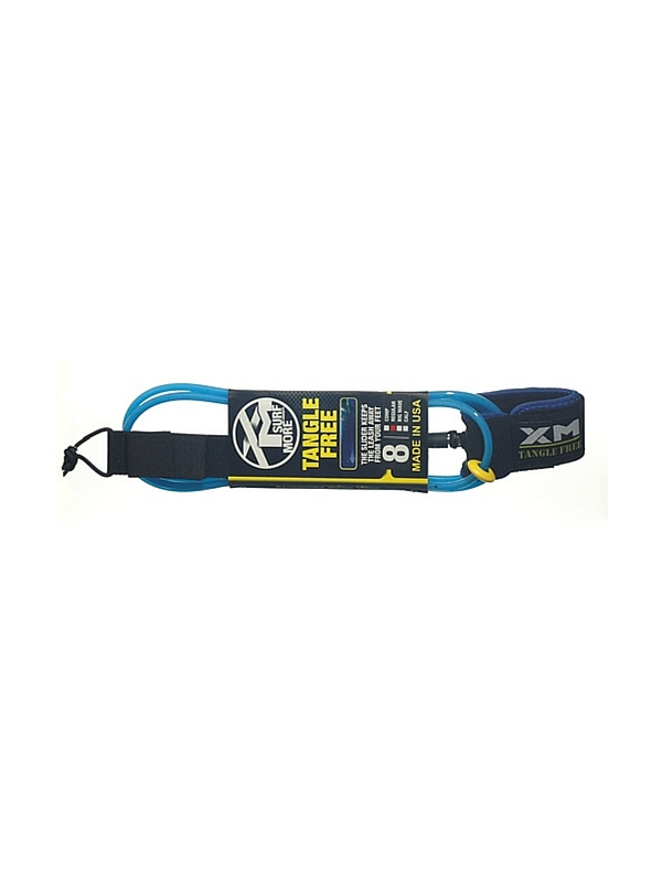 XM TANGLE FREE REGULAR DOUBLE SWIVEL 8' BLUE SURF LEASH