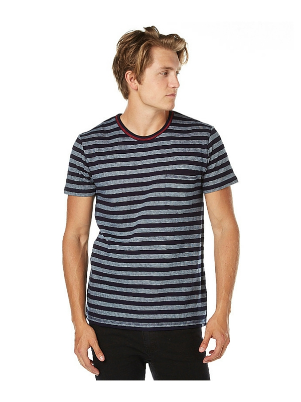 DEUS EX MACHINA STEVIE STRIPE MENS TEE - WHITE (2)