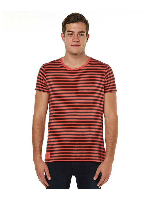 NEUW SERVICE MENS TEE - RED STRIPE