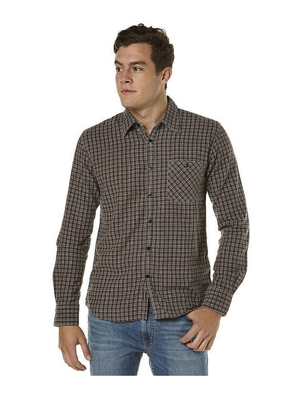 QUIKSILVER NO INTEGRITY MENS LS SHIRT - PLUM PERFECT (2)