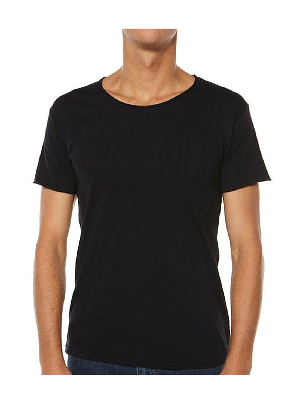 SILENT THEORY BASIC RAW CREW TEE - VINTAGE BLACK