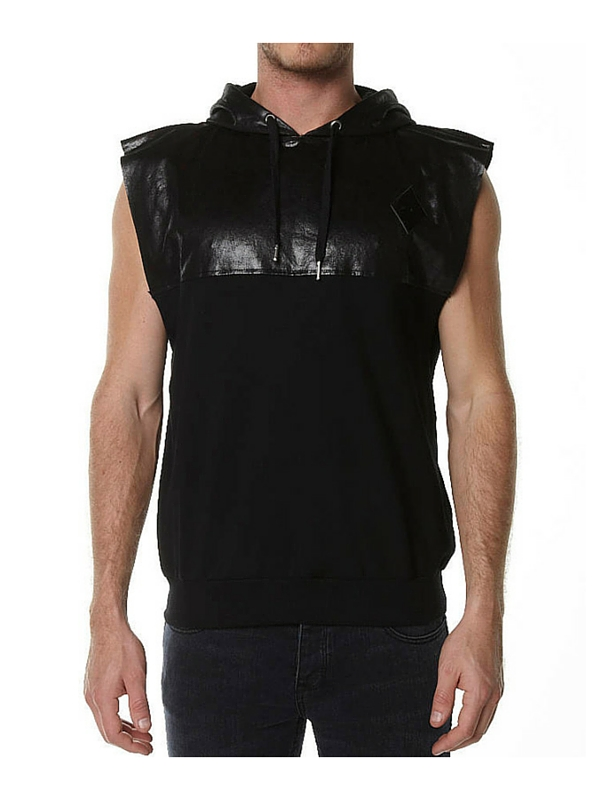 THRILLS NIGHTRIDER SLEEVELESS PULLOVER HOODIE - BLACK