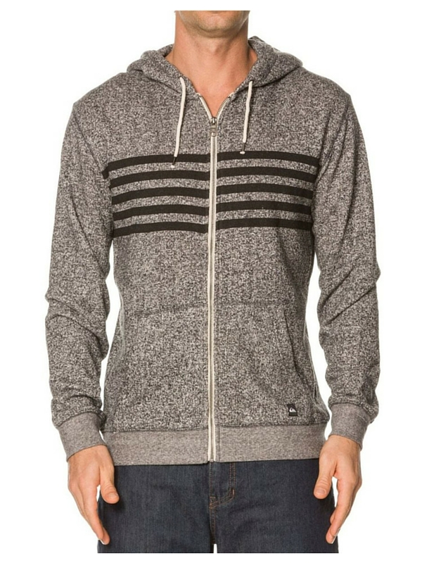 QUIKSILVER MAJOR STRIPEY ZIP UP FLEECE