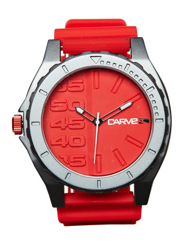 CARVE MINDER 10 ATM WATCH - RED