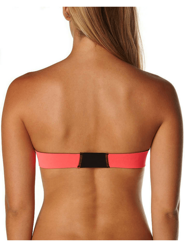 N.L.P NEOPRENE BANDEAU SEPARATE TOP – PINK MULTI (1)