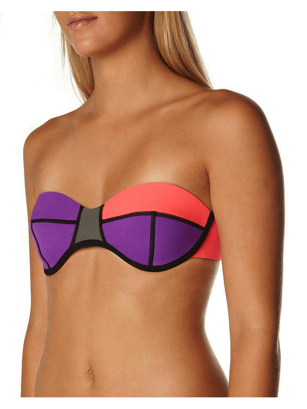 N.L.P NEOPRENE BANDEAU SEPARATE TOP – PINK MULTI (2)