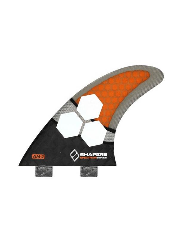 shapers-fins-fcs-carbon-spectrum-am2-orange-thruster