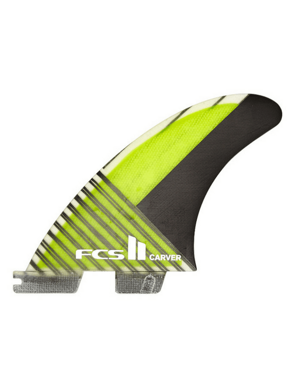 FCS FCS II CARVER PC CARBON TRI FIN SET - GREEN