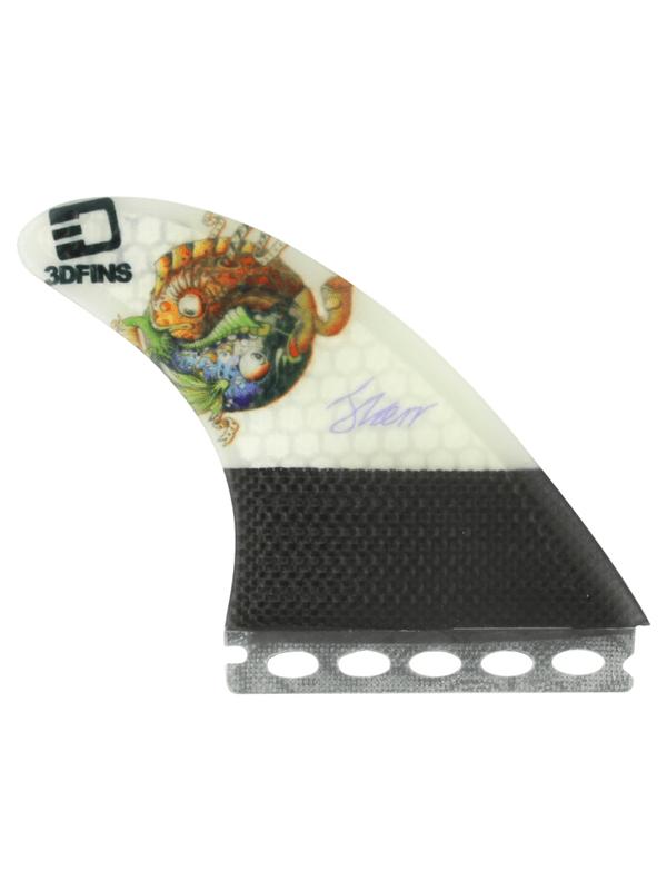 3D DARKSIDE CARBON FULL-BASE 7.0 YING YANG FISH FINS