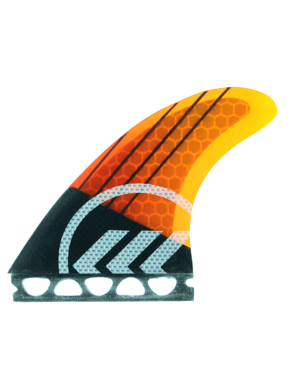 KINETIC RACING JOEL PARKINSON CARBO TUNE SM FFS ORANGE BLACK STRIPE FINS