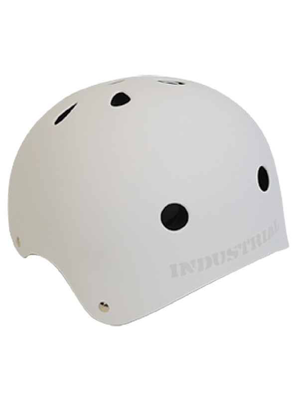 INDUSTRIAL HELMET - LARGE - FLAT WHITE - SKATE BIKE SNOW