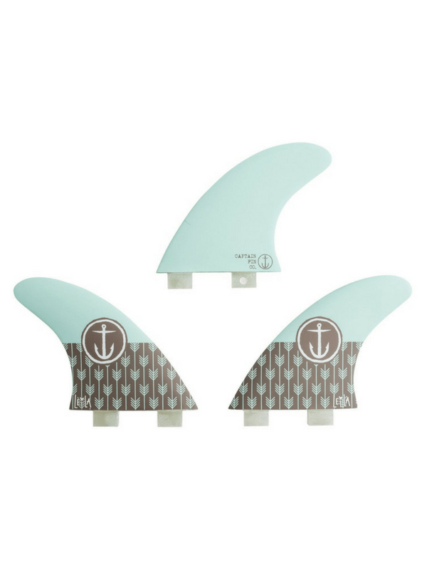 CAPTAIN FIN LEILA HURST THRUSTER TWIN TAB TRI FIN SET