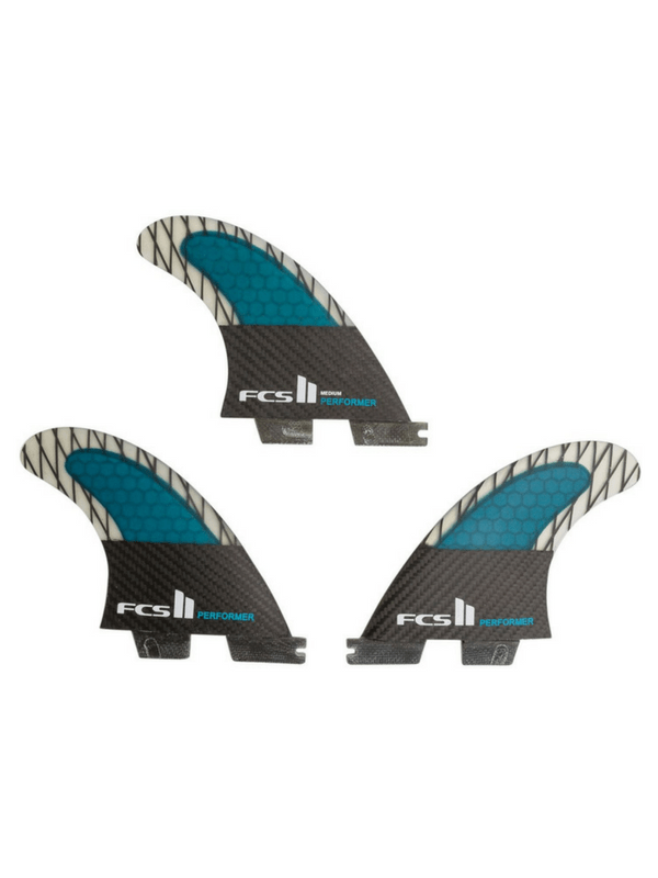 FCS II PERFORMER PC CARBON MEDIUM TRI FINS