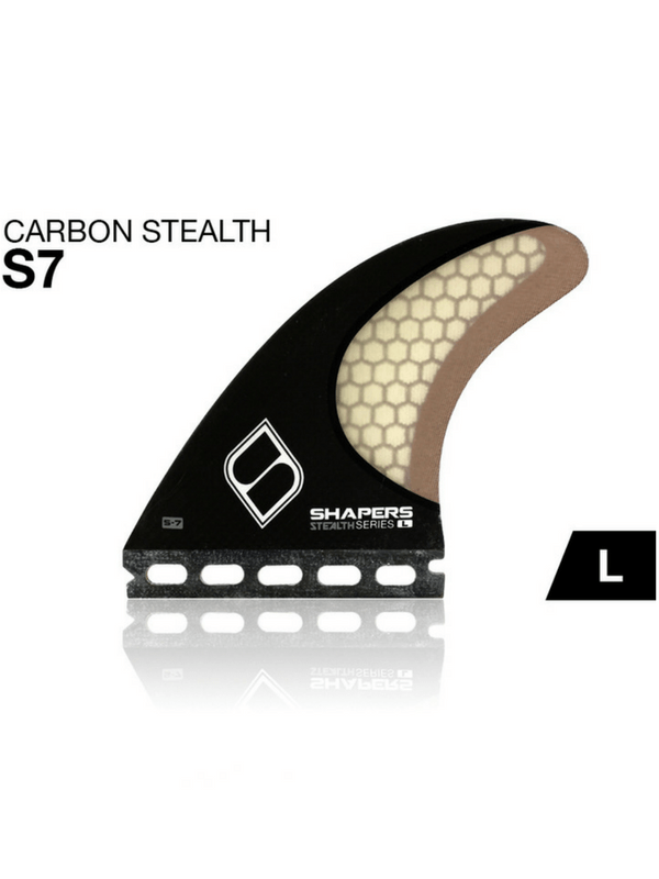 SHAPERS FINS CARBON STEALTH S-7 LARGE FUTURES
