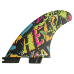 GORILLA FCS II HELL YEAH PC MEDIUM TRI QUAD FIN SET (1)