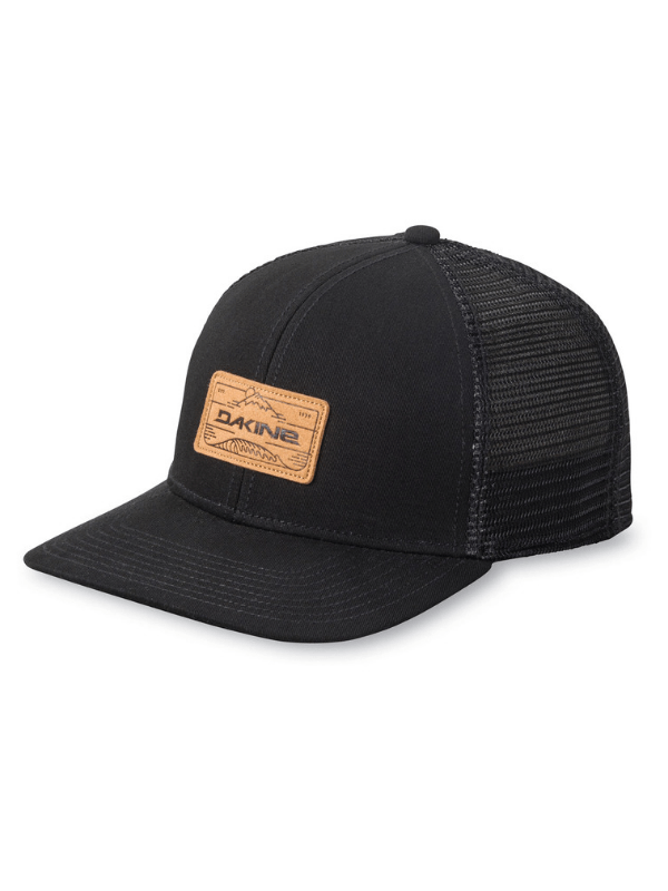 A STURDY TWILL DAKINE LOGO TRUCKER WITH AN ADJUSTABLE SNAP BACK.