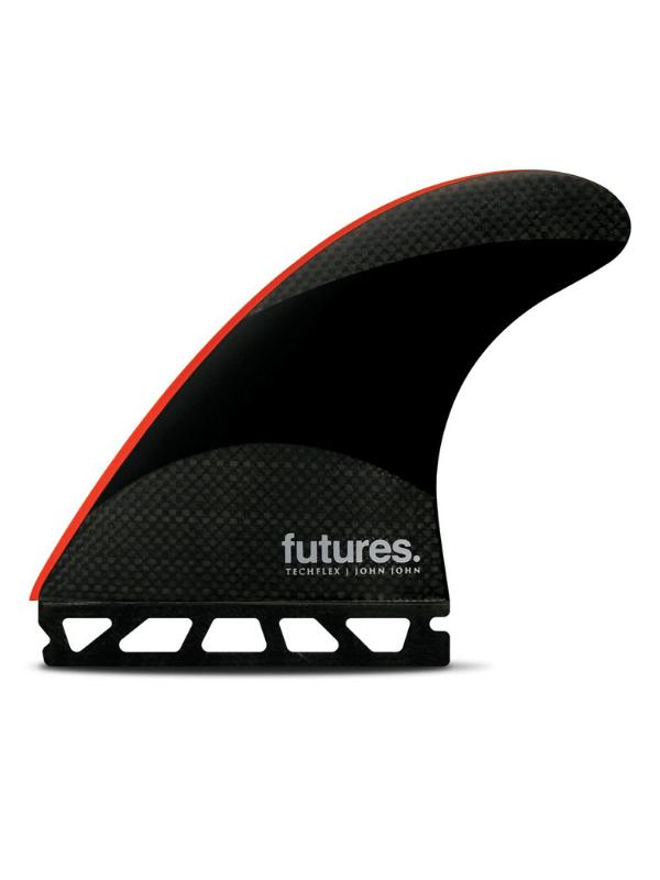 FUTURE FINS JOHN JOHN-2 LARGE TECHFLEX THRUSTER - BLACK_BRIGHT RED