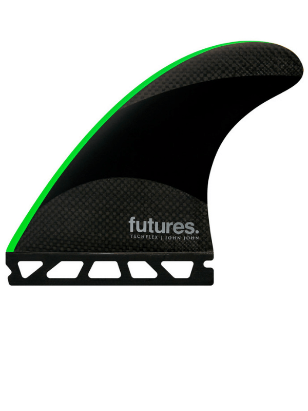 FUTURE FINS JOHN JOHN-2 SMALL TECHFLEX THRUSTER - GREEN-2