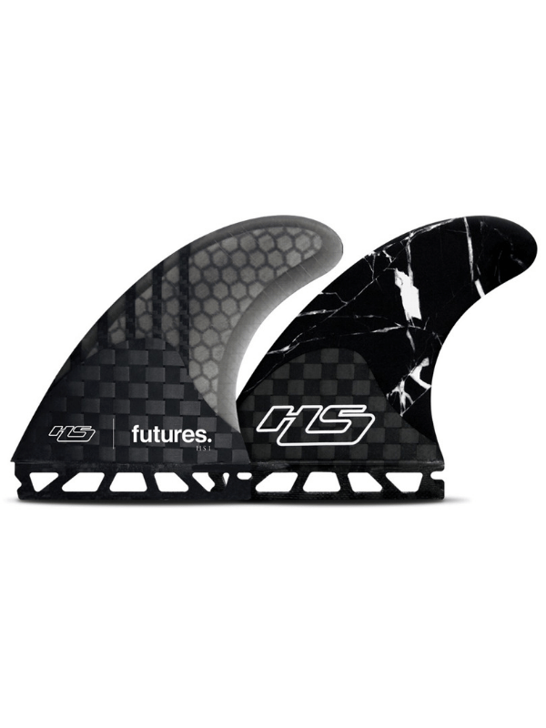 FUTURES FINS HS1 GENERATION THRUSTER - CARBON SMOKE BLACK MARBLE