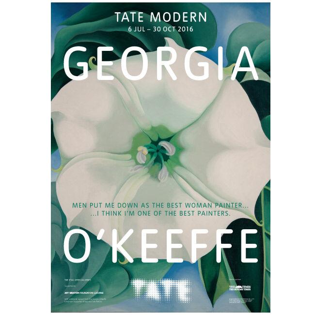 georgia o keeffe exhibition poster tate