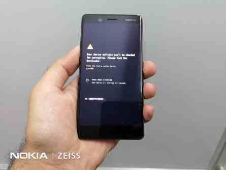 Nokia 7 Bootloader unlock warning