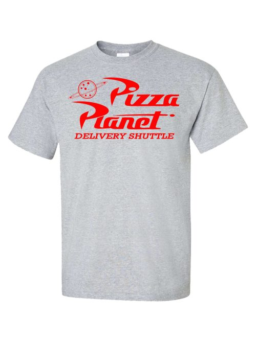 Pizza Planet Delivery Shuttle Athletic Grey Shirt