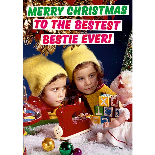 Merry Christmas To The Bestest Bestie Ever Card TheGayShop