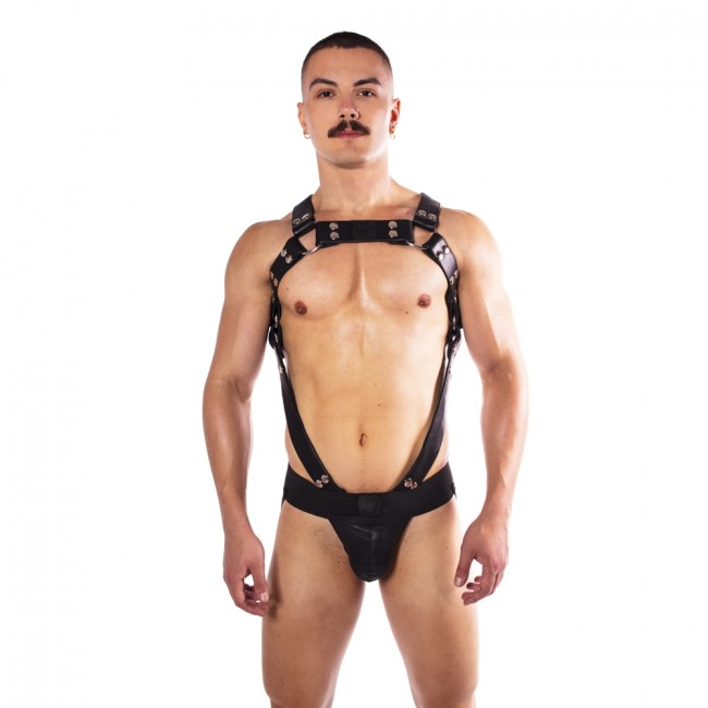 Prowler RED Butch Body Harness Black