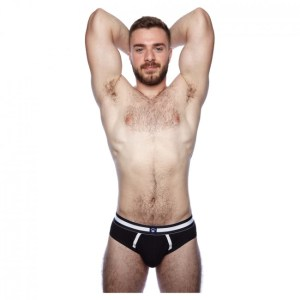 Prowler Classic Backless Brief Black/White