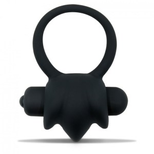 Mr Cock The Bang Vibrating Silicone Cockring Black