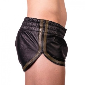 Prowler RED Leather Sports Shorts Black/Green