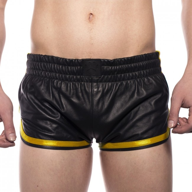 Prowler RED Leather Sports Shorts Black/Yellow