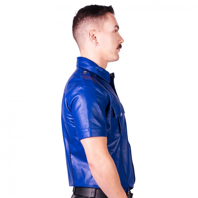 Prowler RED Slim Fit Police Shirt Blue
