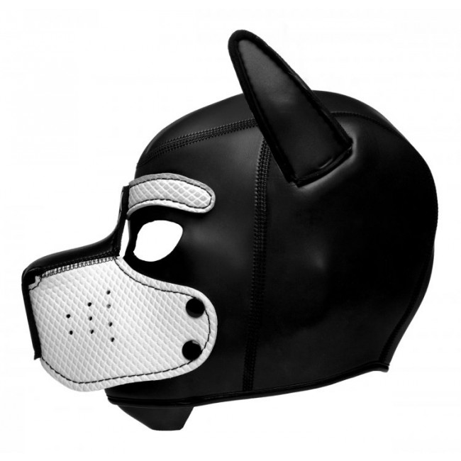 Spike Neoprene Puppy Hood - white