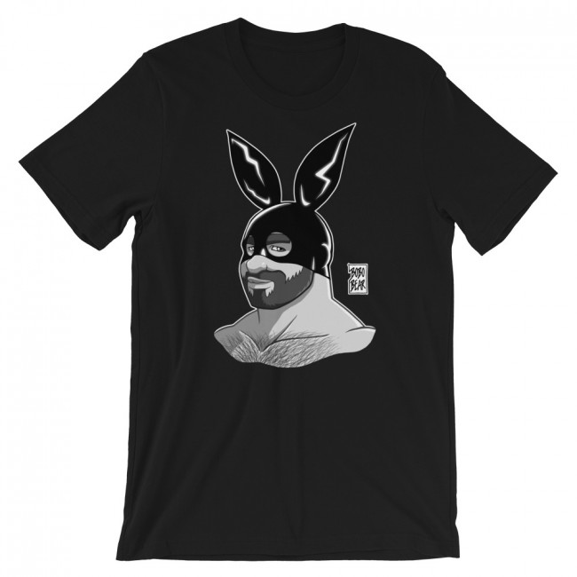 ADAM LIKES BUNNIES BLACK AND WHITE T-SHIRT