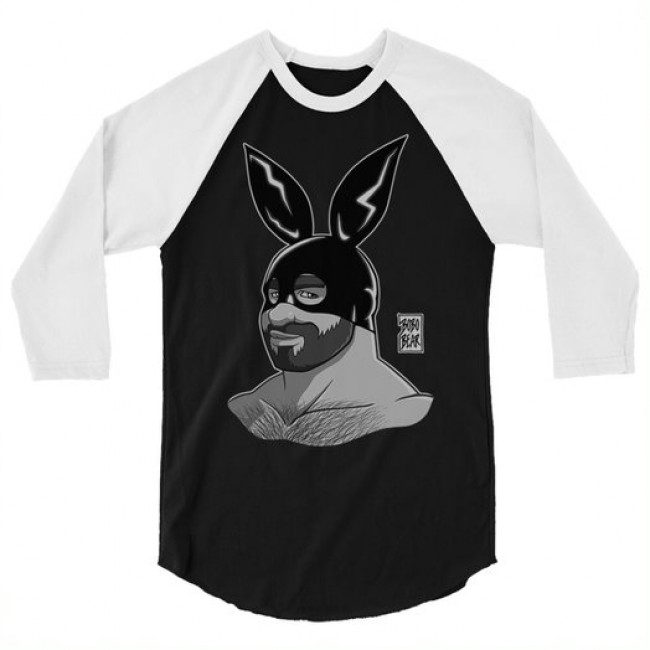 ADAM LIKES BUNNIES BLACK AND WHITE 3/4 SLEEVE