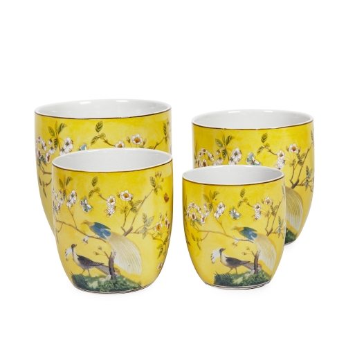 Tulip Cover Pots-Lyre Bird