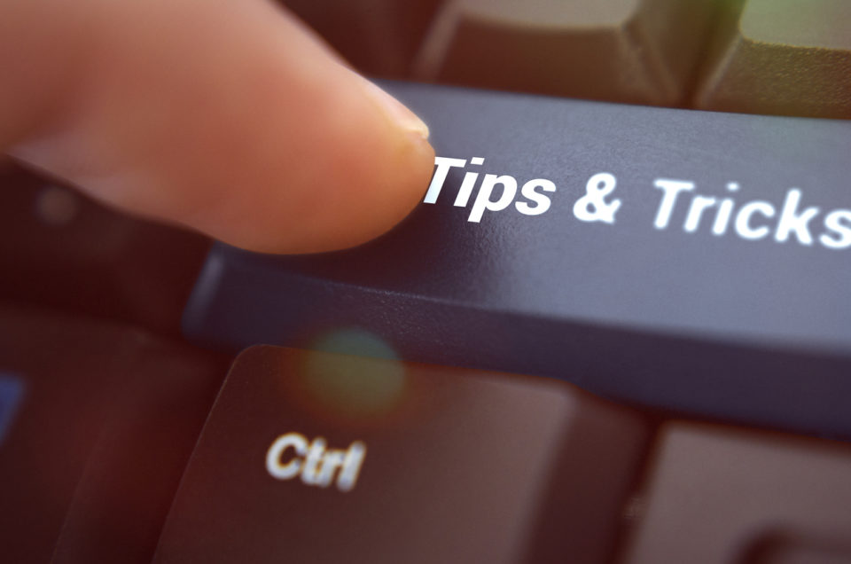 Tips and tricks button on a keyboard