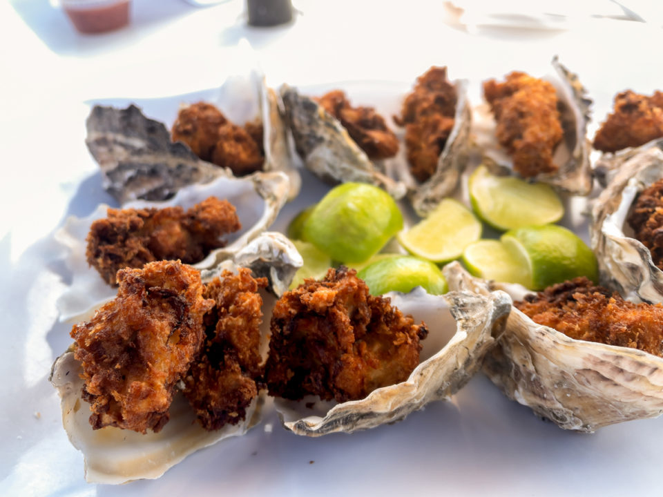 Delicious Platter Of Deep Fried Oysters