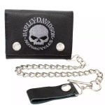Harley Davidson Biker Wallet Willie G Skull At Thunderbike Shop