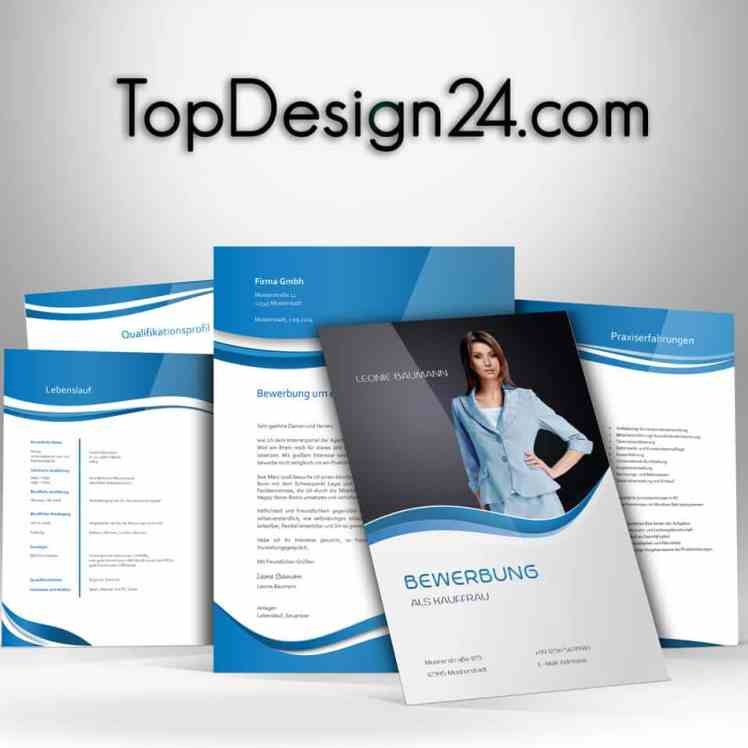 Muster Bewerbung - Blue -TopDesign24