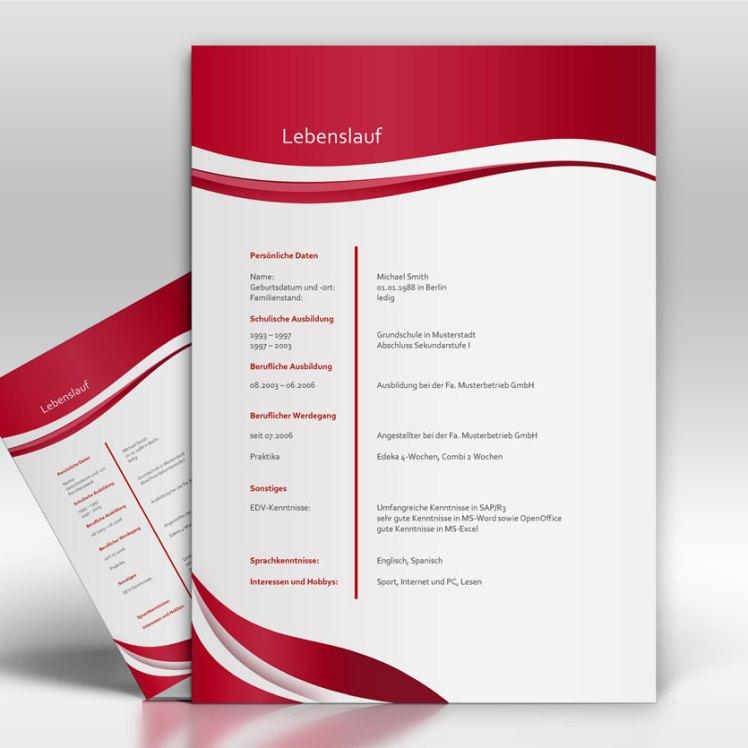 Lebenslauf - TopDesign24 - Musterbewerbung