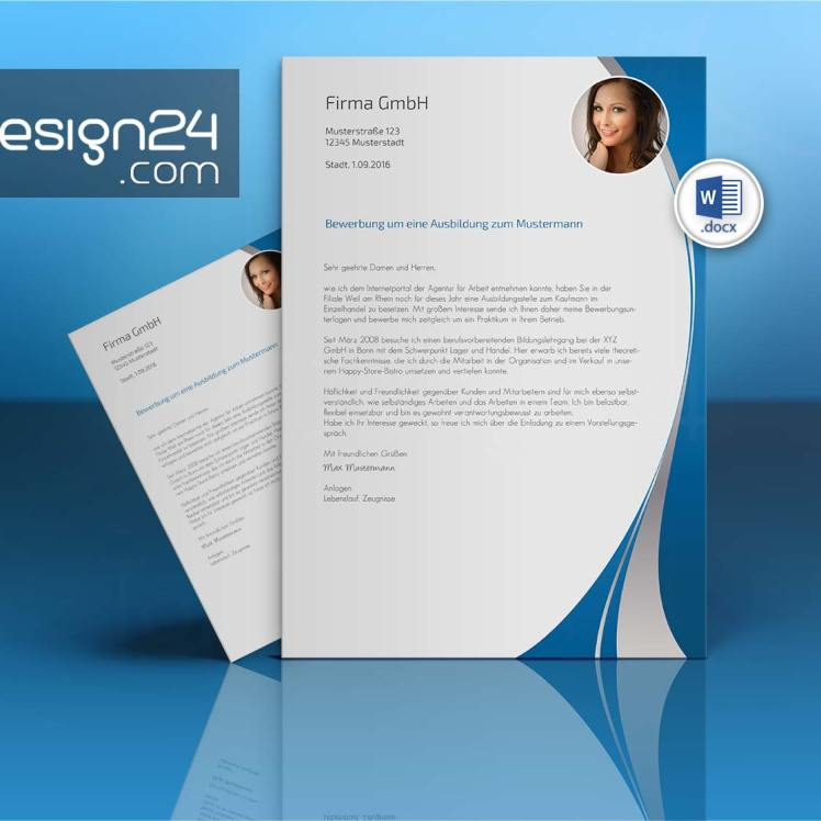 bewerbung layout download