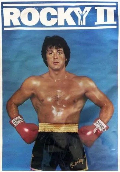 Vintage 1979 Rocky II Poster | Rocky Balboa Character Poster
