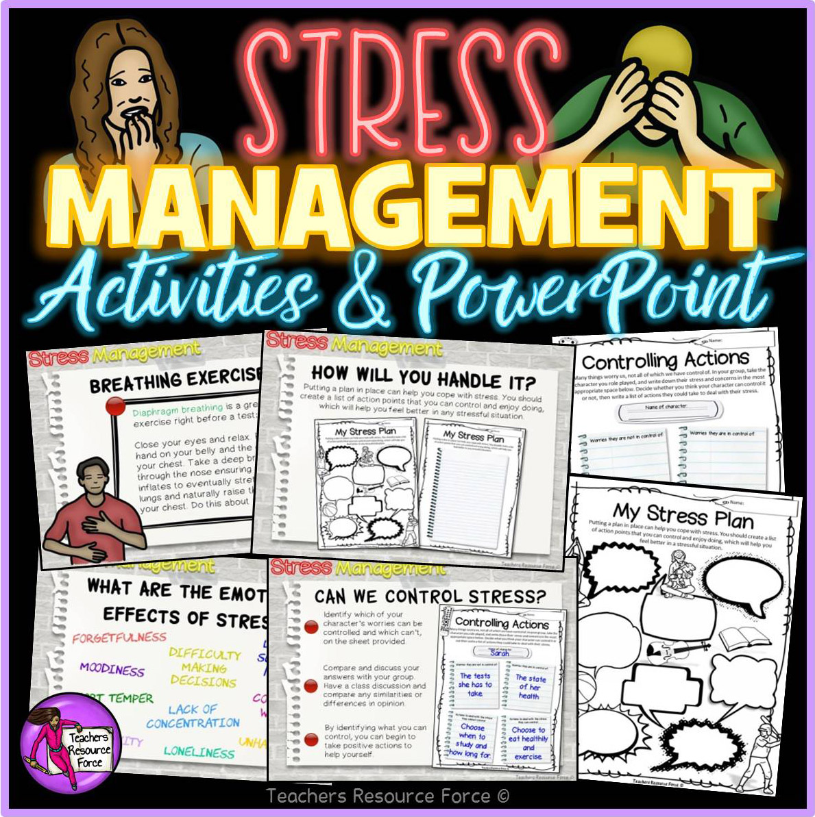 Stress Management Activities And Powerpoint For Big Kids