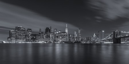 New York Skyline foto - Lower Manhattan vanuit Brooklyn