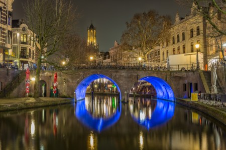Utrecht by Night - Oudegracht en Domtoren