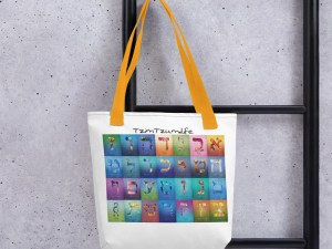 The Living Letters Tote bag