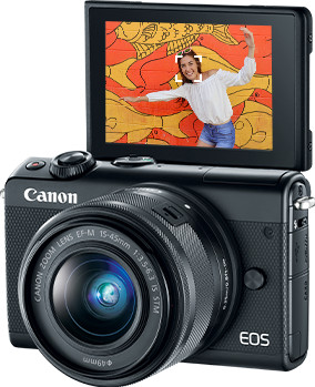 m100 af product - Canon EOS M100 Mirrorless Digital Camera with 15-45mm Lens (Black)