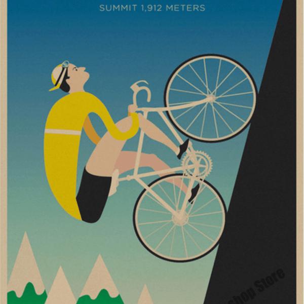 affiche décoration vintage rétro cyclisme tour france moser vélo